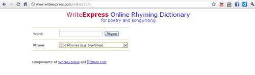 Writeexpress Rhymer